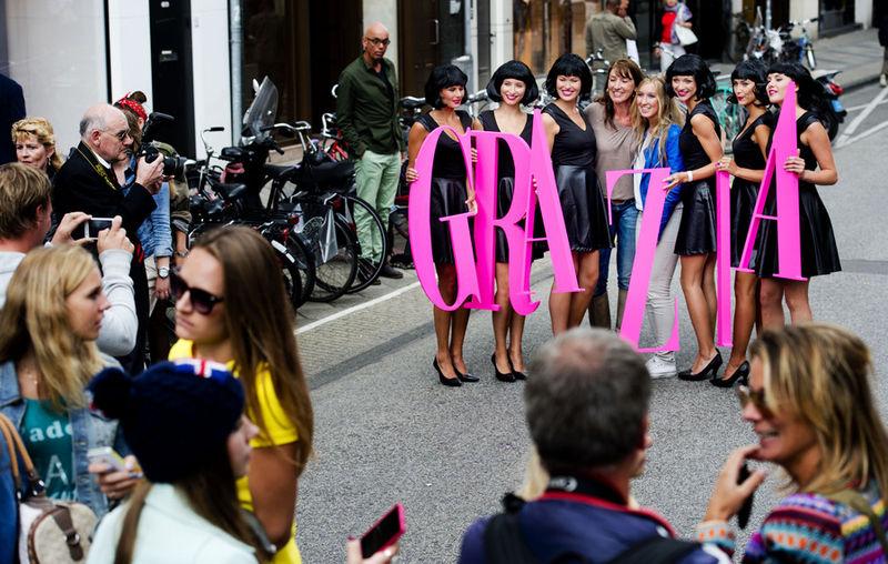 Grazia VIP Models brand activation
