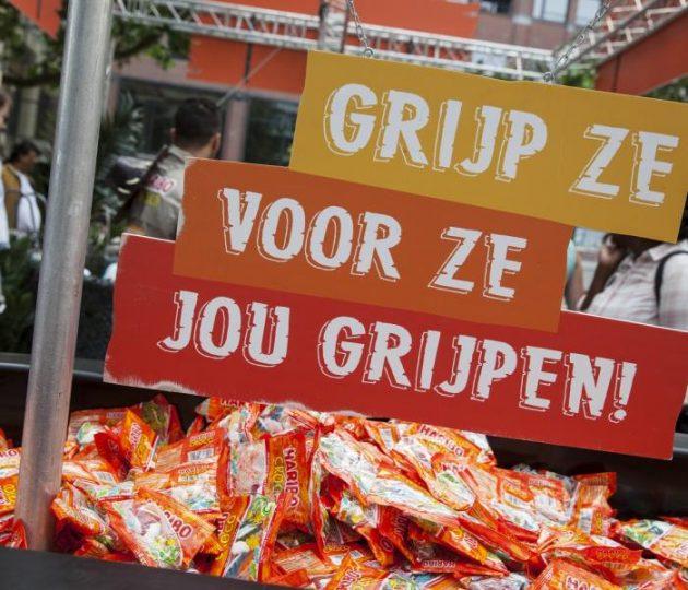 city sampling Haribo Croco Utrecht Team