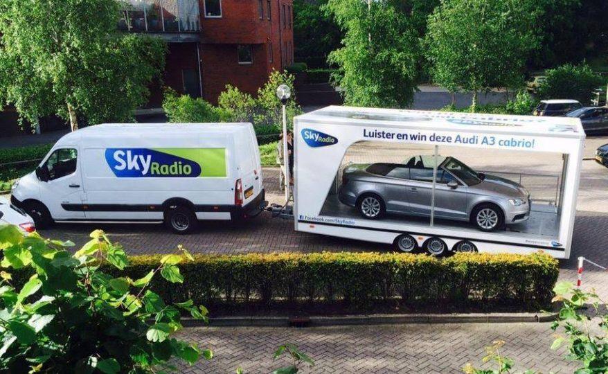 Sky Radio tour Audi A3 moving billboards